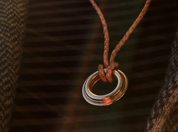 PNEUS Pendant (Michelin) 3d printed Leather String not included