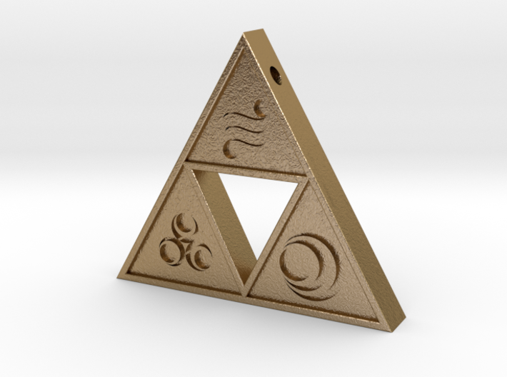 Goddess Triforce 3d printed