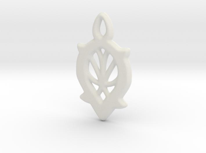 Dewdrop Web Pendant 3d printed