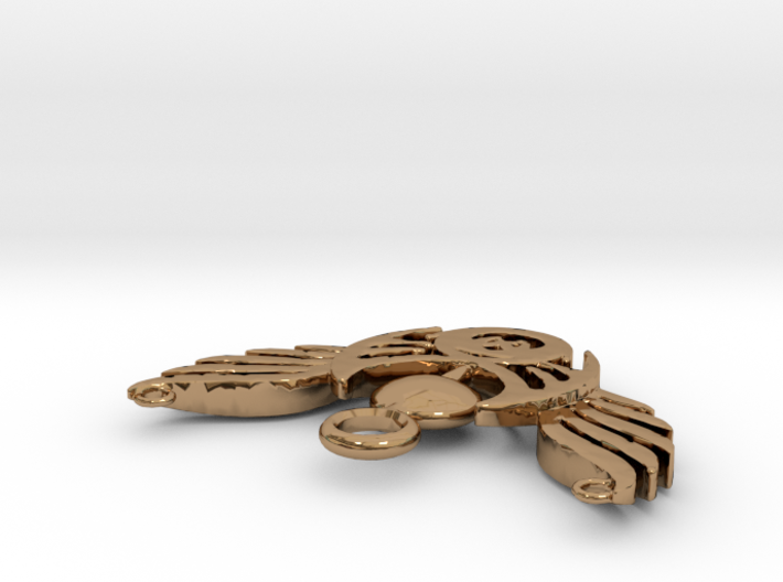 Brosche-Wings-60101 3d printed