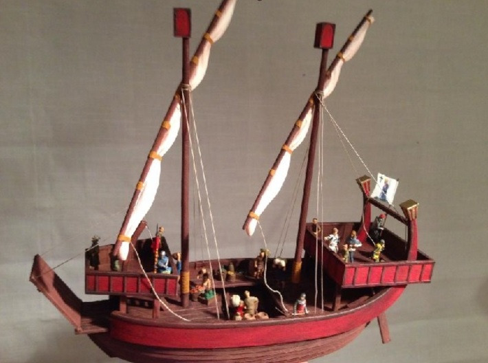 Medieval Ship No Cargo Pegs 3d printed