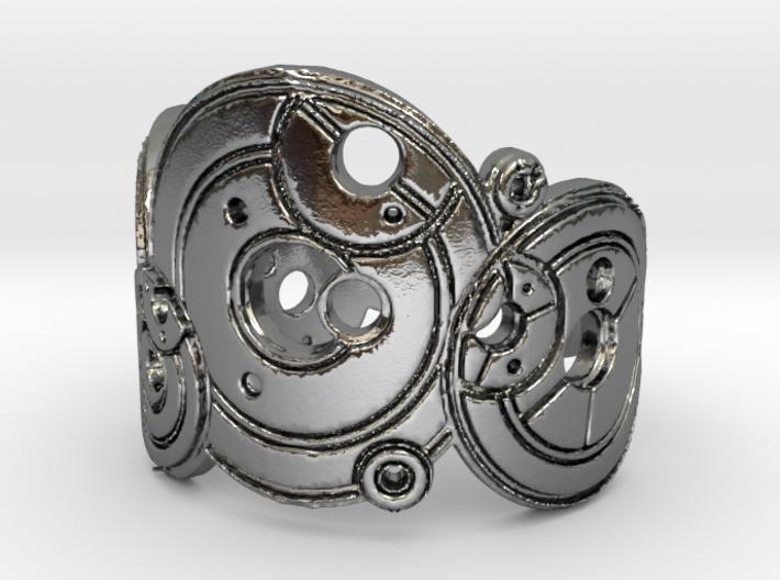 Dr. Who Gallifreyan Inversed Ring 3d printed