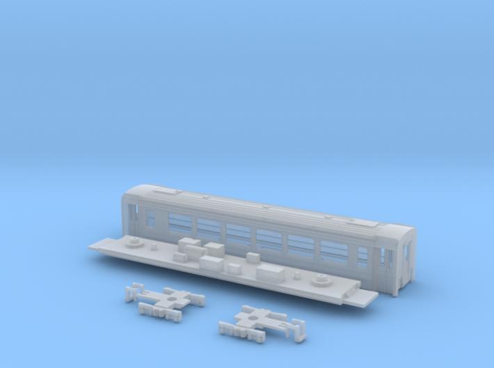 Passenger car type B-3S w/bogie 3d printed
