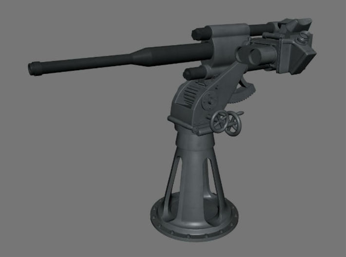 "1/32 Russian ShCH ""PIKE"" Series X Deck Gun KIT 3d printed"