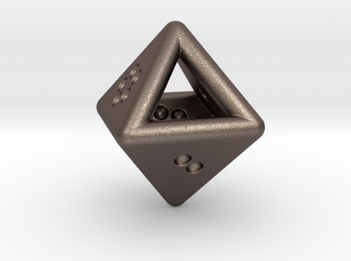 Unusual D8 (not twisted) 3d printed