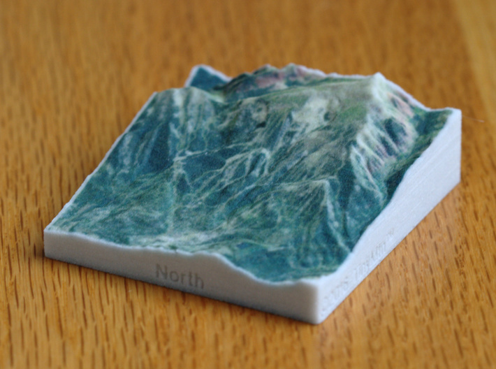 Snowmass, Colorado, USA, 1:100000 3d printed