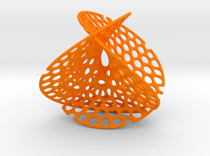 Enneper surface irregular holes weave 3d printed