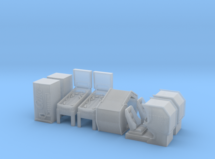 HO scale Arcade Machines Pack 2 3d printed