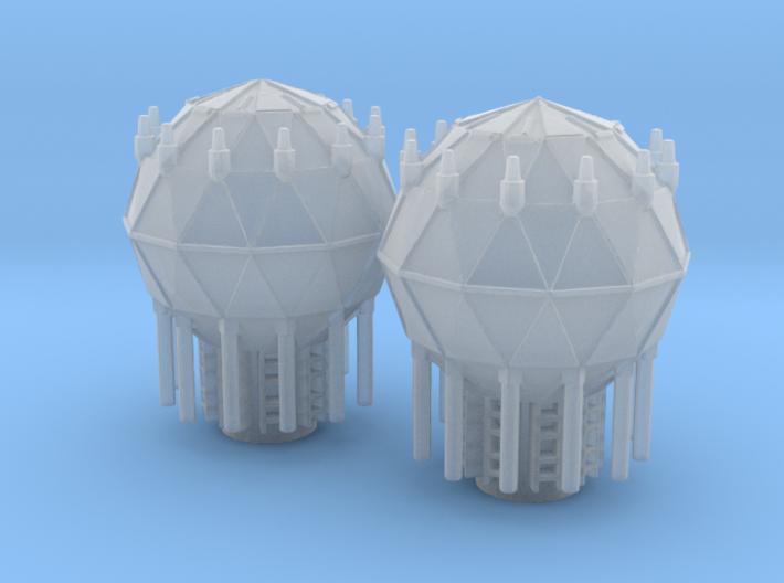 1:2700 Shield Generators for Imperial Cruiser 3d printed