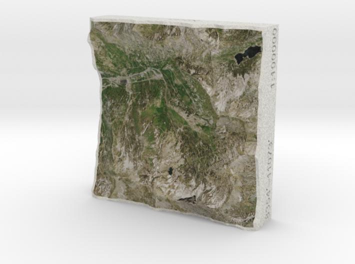Alta Ski Area, Utah, USA, 1:100000 3d printed