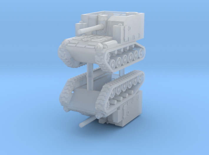 1/285 M44 self propelled howitzer (x2) 3d printed