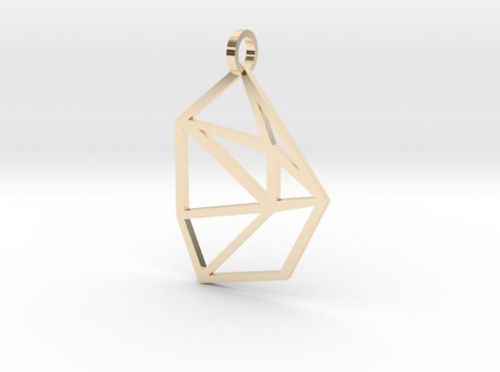 Bent Hex Droplet Necklace 3d printed