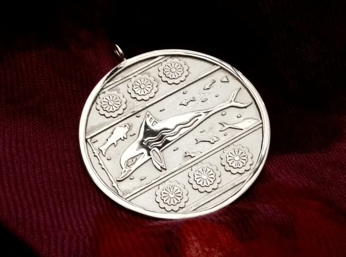 Minoan Dolphin Pendent 1 3d printed