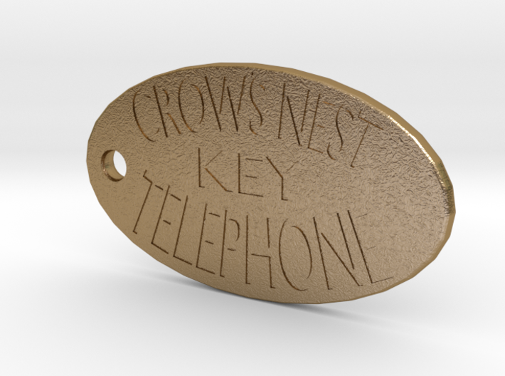 Titanic's Crow's Nest Telephone Key Tag 3d printed