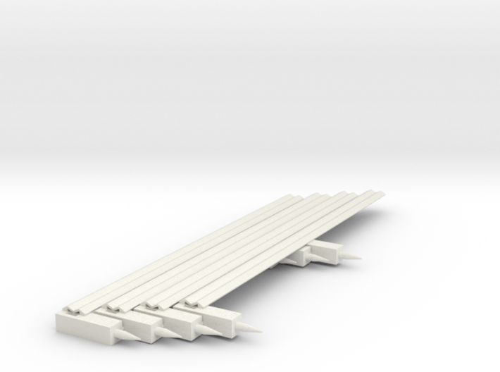 GR2 Guardrail Midsections for 1/32 Scale Road 3d printed