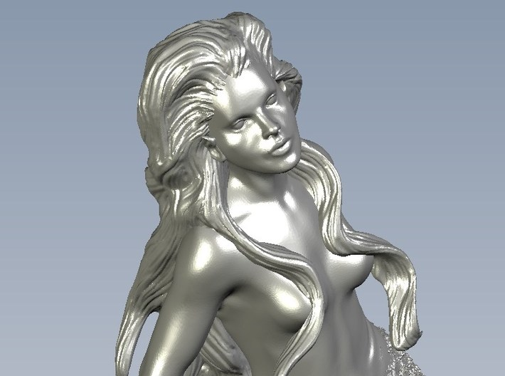 1/72 scale mermaid swimming figure x 1 3d printed