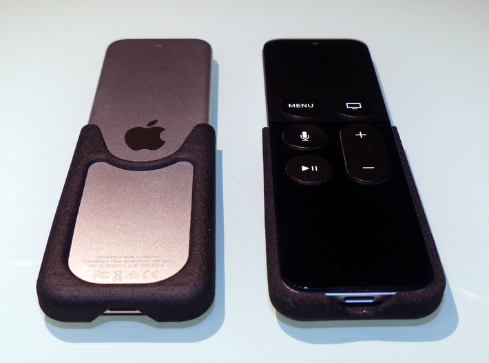 Apple TV, Siri Remote, Slim Skin 3d printed Open back allows you to still feel the cool metal surface