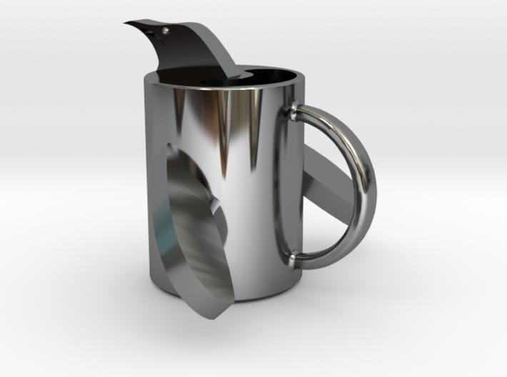 penguin mug .stl 3d printed