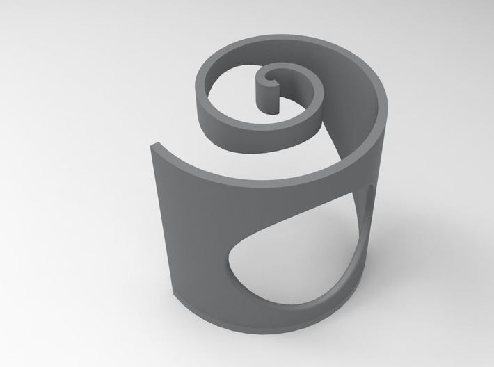Twirl Ring 3d printed