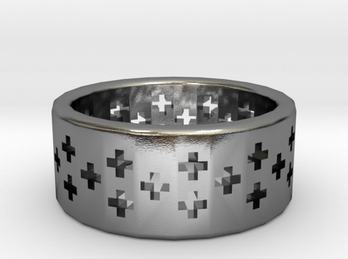Plus Pattern Ring 3d printed