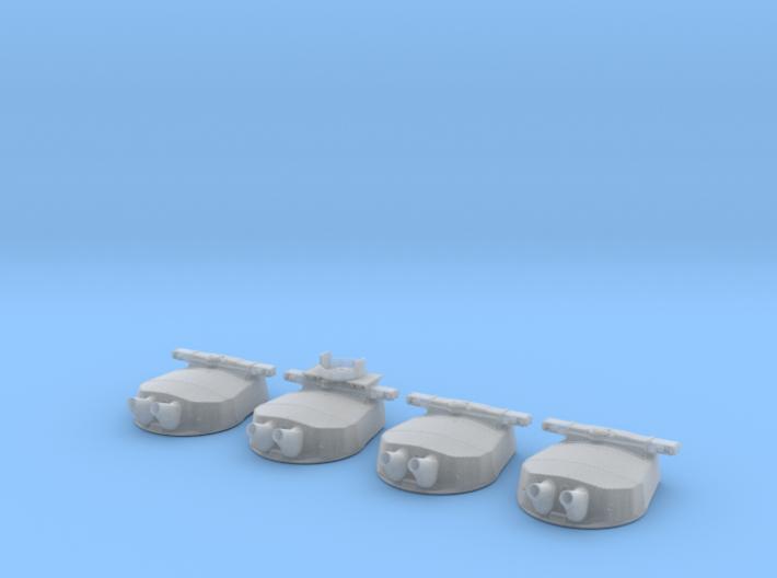 "1/200 HMS Hood Turrets 15"" MKII 22.5º Elev 3d printed 1/200 HMS Hood Turrets 15"" MKII 22.5º Elev"