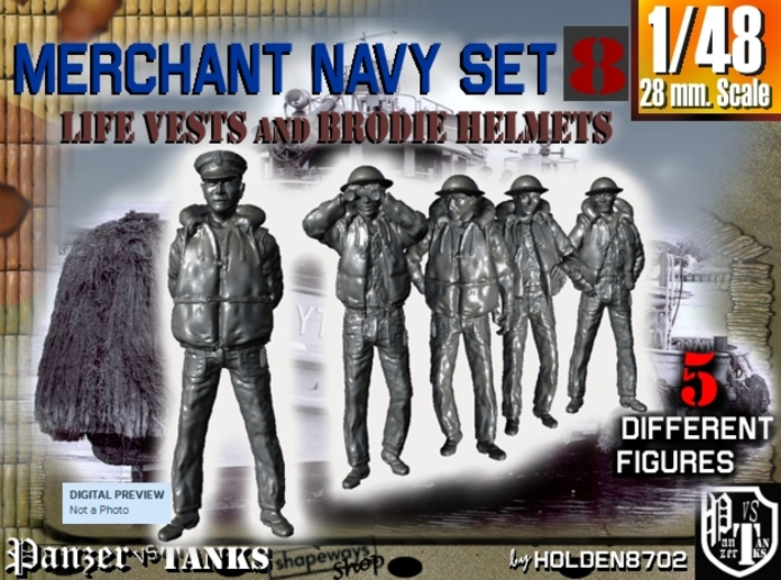 1-48 Merchant Navy Set 8 3d printed
