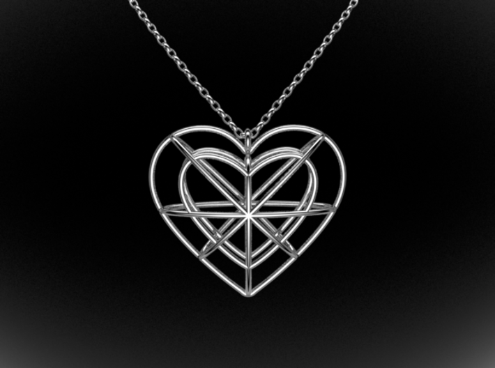Wire Heart 3d printed