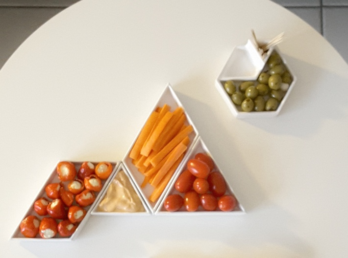 Triangular Plate Large  3d printed