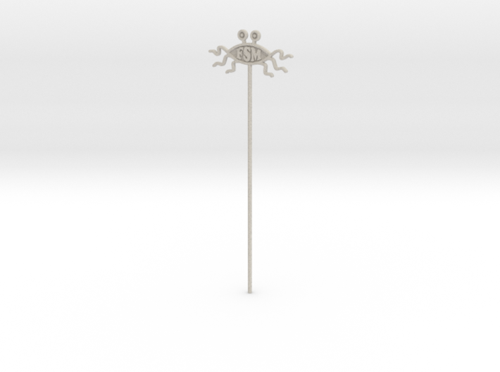 FSM Emblem On A Stick 3d printed Nice and cheap. PLEASE READ THE DESCRIPTION BEFORE BUYING!!!!!