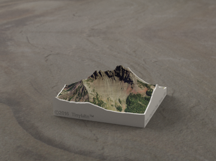 Three Fingered Jack, Oregon, USA, 1:25000 3d printed