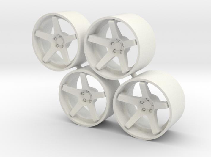 "Set Stance Wheels 21"" 3d printed"