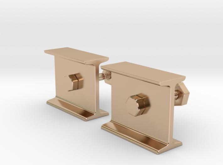 I-beam Cufflinks 3d printed