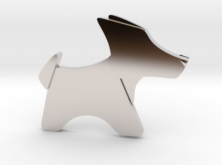 Origami Dog pendant 3d printed