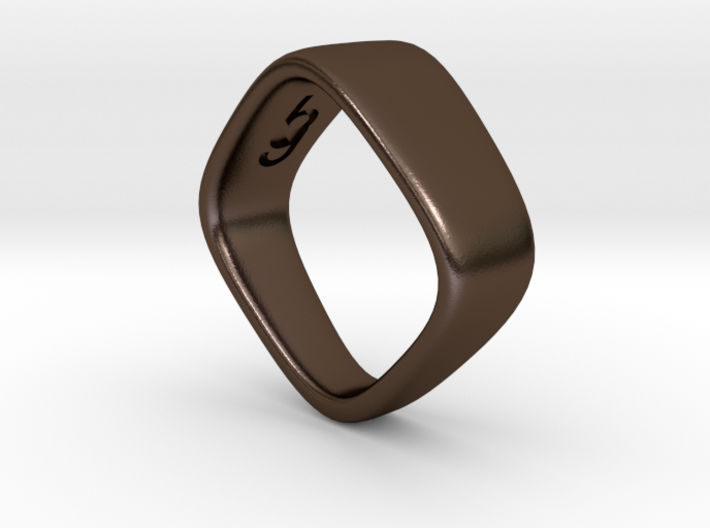 Square Ring size 8 3d printed
