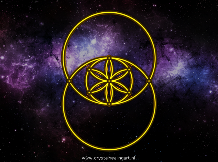 Vesica Piscis - Flower of life 3d printed Artist impression of the Vesica piscis