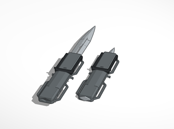 Lee blade 3d printed Extended and retracted render