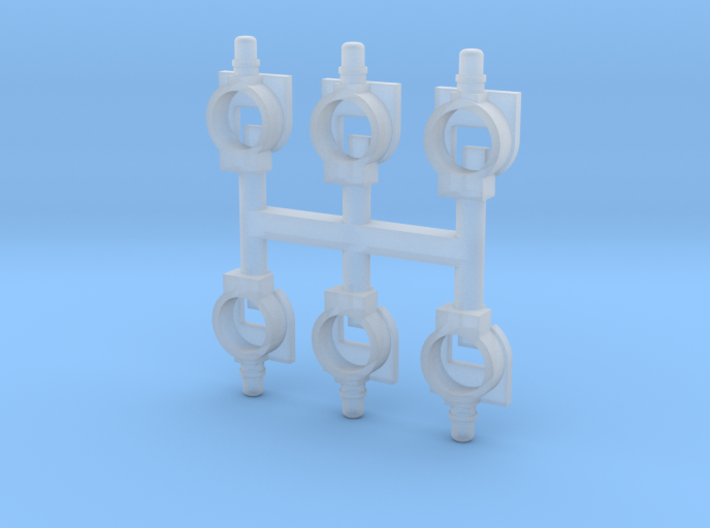 N Seinlampen NS voor SMD LEDs (6 groot) 3d printed