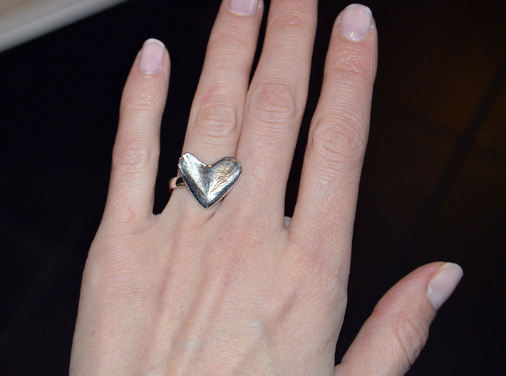 Flying Heart (ring 17mm) 3d printed