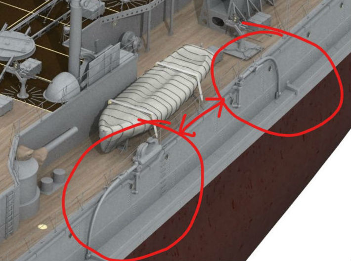 1/48 IJN Davits For Cutter 9m Side Hull 3d printed