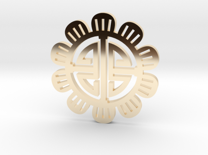 Flower Coin 3d printed
