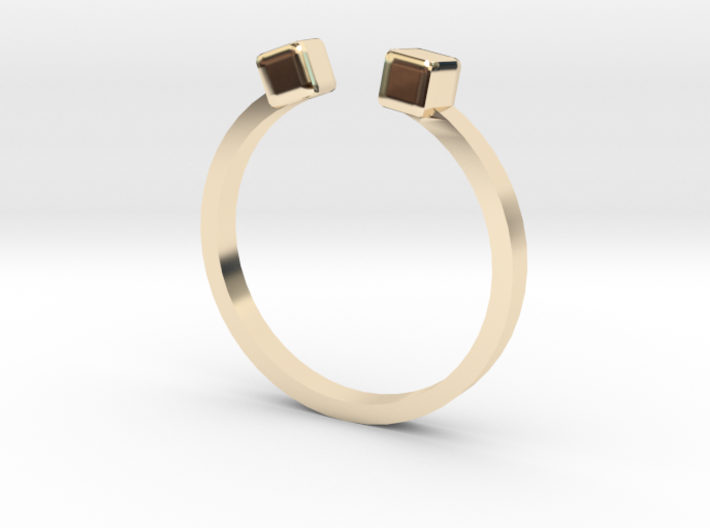 Double Square Ring 3d printed