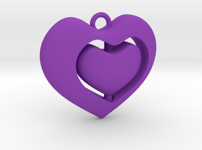 Rotating hearts 3d printed