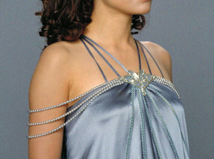 Padme Brooch Satin Nightgown 3d printed