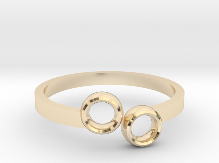 Double Circle Ring 3d printed