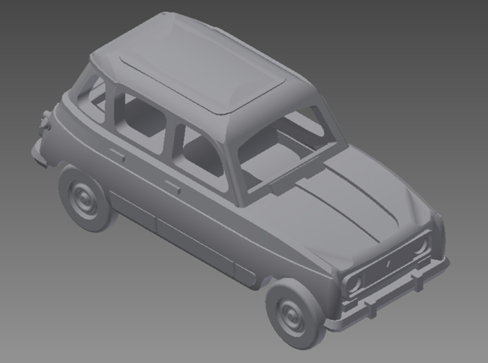 Renault 4 Hatchback 1:160 scale (Lot of 6 cars) 3d printed