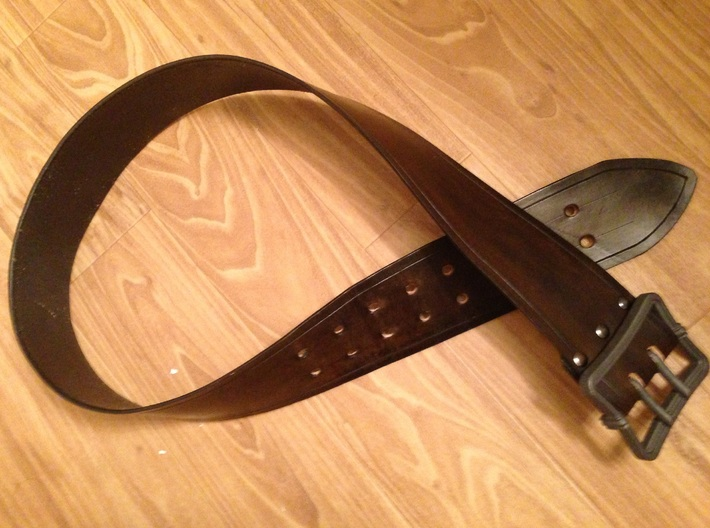"""Pirates 3"""" Buckle - 2 Prong 3d printed Finished Belt"""