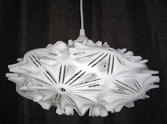 Camilla Light  / Hanging Pendant Light 3d printed Camilla Light in White Plastic