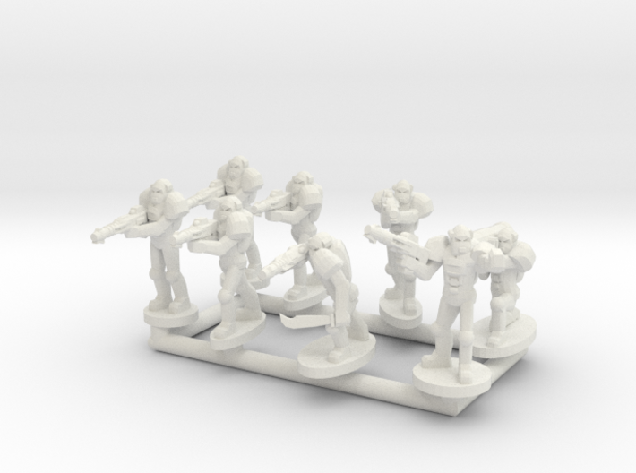 MG144-Aotrs11 Power Troop Squads 3d printed