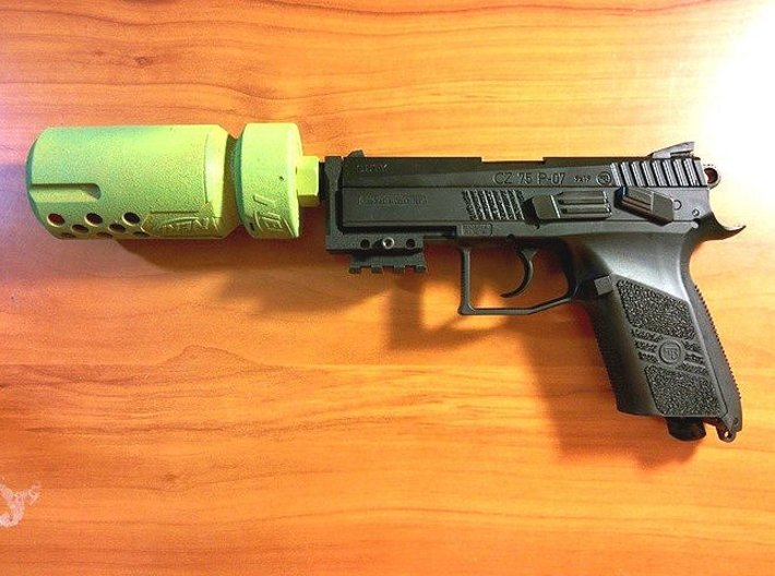 CZ 75 P-07 Duty Muzzle Adapter 3d printed