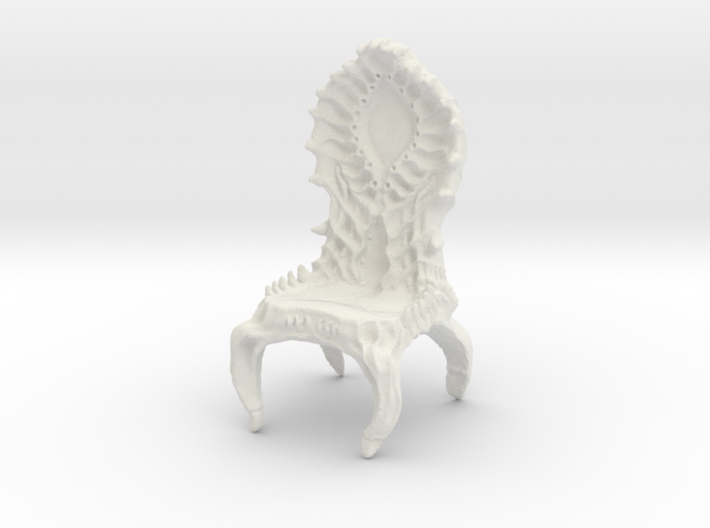 Chair, biomechanical Giger Style 3d printed